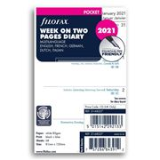 Filofax - Pocket Week on two Pages 2021 Diary