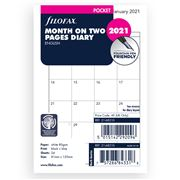 Filofax - Pocket Month On Two Pages Dairy Refill 2021