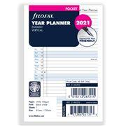 Filofax - Pocket Year Planner Vertical 2021