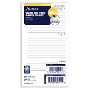 Filofax - Personal Week On Two Pages Ruled 2021 Diary Refill