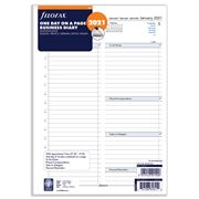 Filofax - A4 Business Day Per Page w/Appointment 2021 Refill
