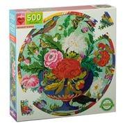 eeBoo - Round Bouquet & Bird Puzzle 500pce