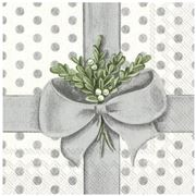 IHR - A Present for You Silver Lunch Napkins 33x33cm 20pce