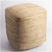 Peter's - Balah Jute Square Cube Pouf 40x40cm