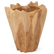 Peter's - Attic Teak Ribbed Pot 28x30cm