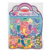 Melissa & Doug - Reusable Puffy Sticker Set Mermaid 69pce