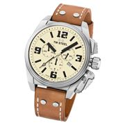 TW Steel - Canteen TW1010 Cream Dial Chronograph Watch 46mm