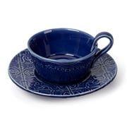 Bordallo Pinheiro - Rua Nova Indigo Tea Cup & Saucer