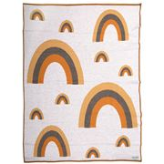 Branberry - Rainbow Pure Wool Blanket Mustard