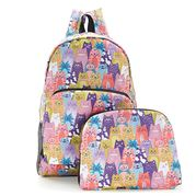 Eco-Chic - Foldable Backpack Stacking Cats Multi