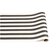 Hester & Cook - Table Runner Black & White Stripe