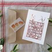 Olive and The Larder - Shelves Greeting Card