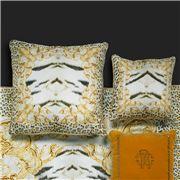 Roberto Cavalli - Tiger Frame Silk Cushion Gold 60x60cm