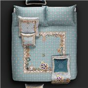 Roberto Cavalli - New Spider Duvet Cover Set Light Blue 4pce