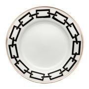 Richard Ginori - Catene Flat Dessert Plate Nero 22cm