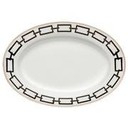 Richard Ginori - Catene Oval Flat Platter Nero 34cm