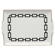 Richard Ginori - Catene Tray with Handles Nero 31.5cm