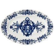 Richard Ginori - Babele Oval Flat Platter Blue 40cm
