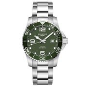 Longines - HydroConquest Steel & C/Bezel Green Watch 41mm