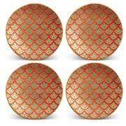 L'objet - Fortuny Canestrelli Canape Plates Orange Set 4pce
