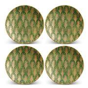 L'objet - Fortuny Piumette Canape Plates Green Set 4pce