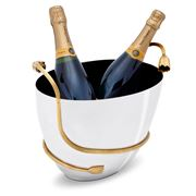 L'objet - Deco Leaves S.Steel/Gold Plated Champagne Bucket