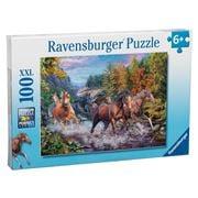 Ravensburger - Rushing River Horses Puzzle 100pce