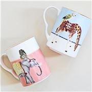 Yvonne Ellen - Giraffe & Elephant Mug Set