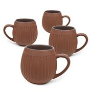 Robert Gordon - Hug Me Tribal Mug Set Dark Clay 4pce