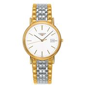 Longines - Presence White Dial Yellow PVD & S/Steel 38.5mm