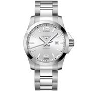 Longines - Conquest Silver Dial Stainless Steel Watch 43mm