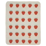David Fussenegger - Juwel Bassinet Blanket Strawberry Red