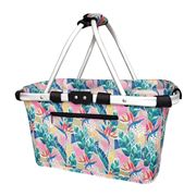 Sachi - Two Handle Carry Basket Botanical