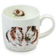 Royal Worcester - W/ Designs Be Friends Guinea Pig Mug