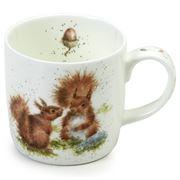 Royal Worcester - W/ Designs Squirrel Between Friends Mug