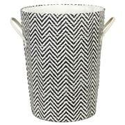 Emporium - Nile Laundry Hamper White/Black 40x50cm