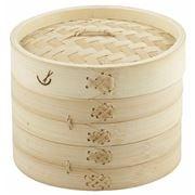 Davis & Waddell - Asia One 2 Tier Bamboo Steamer 18cm