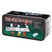 Games -  Texas Hold'Em Poker Set in Rectangular Tin