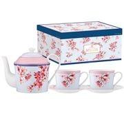 Ashdene - Cherry Blossom Teapot w/Tea Cups Set 3pce