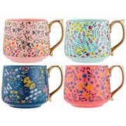 Ashdene - Flowering Fields Assorted Mug Set 4pce