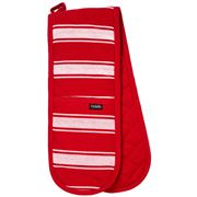 Ladelle - Butcher Stripe Series II Double Oven Mitt Red