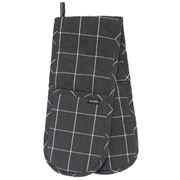 Ladelle - Eco Check Double Oven Mitt Charcoal