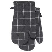 Ladelle - Eco Check Oven Mitt Set Charcoal 2pce