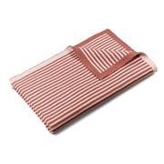 DLUX Baby - CooCoo Cotton Knit Stripe Blanket Dusty 70x90cm