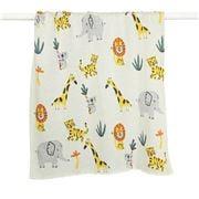 DLUX Baby - Safari Cotton Knitted Stroller Blanket Mustard
