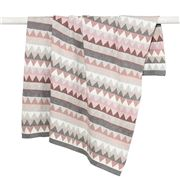 DLUX Baby - Archie Triangle Knitted Stroller Blanket Blossom