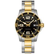 Longines - HydroConquest Blk Dial Two-Tone Quartz Watch 41mm