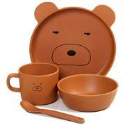 Pilbeam - Jiggle & Giggle Kids Dinner Animal Bear Set 4pce