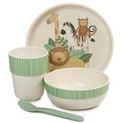 Pilbeam - Jiggle & Giggle Kids Dinner Novelty Safari Set 4pc