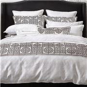 Florence Broadhurst - Circles & Squares Silver Bed Runner